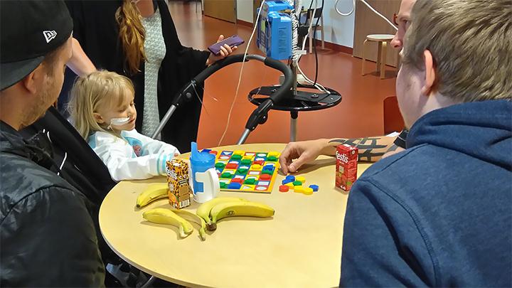 Familj på besök under första helgen i Umeå