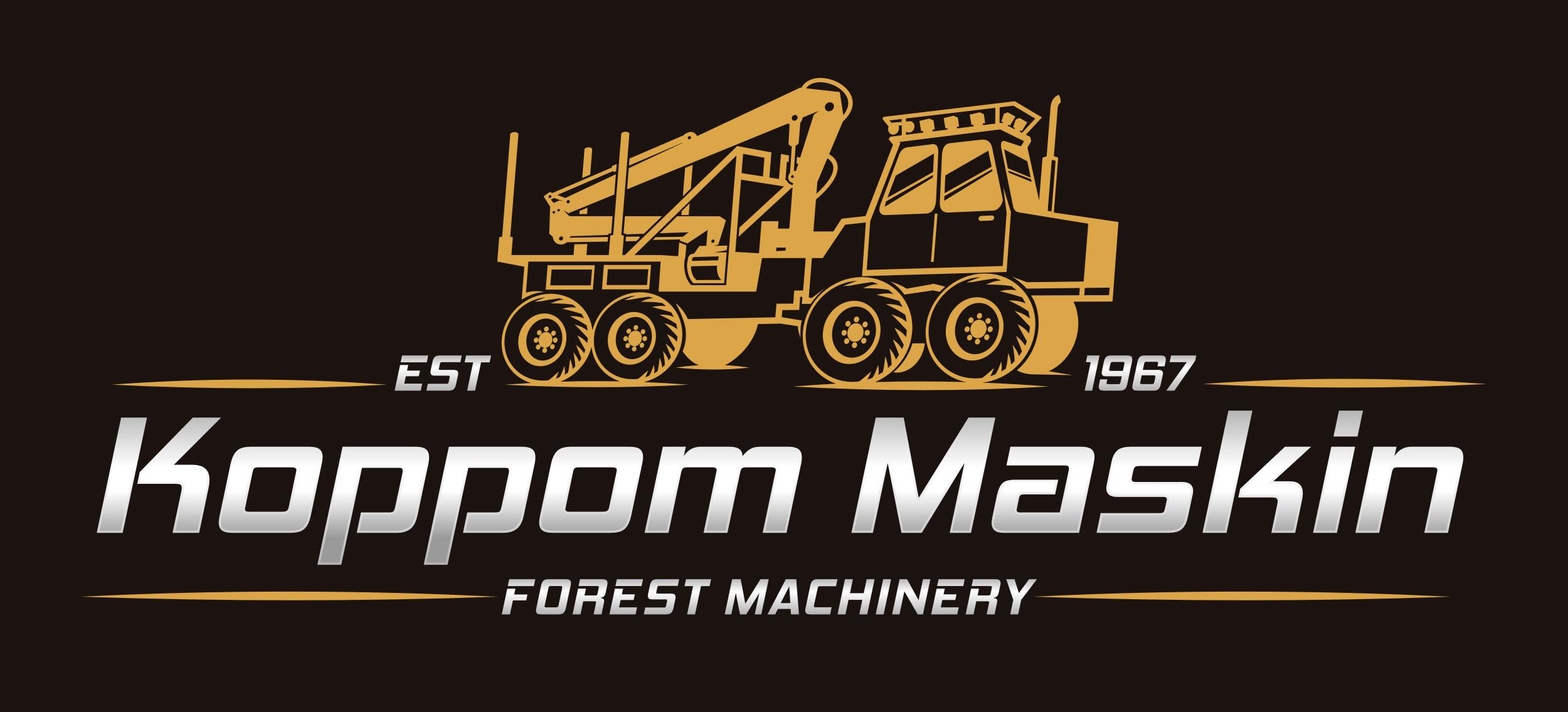 logotyp Koppom Maskin