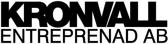 logotyp Kronvall Entreprenad AB